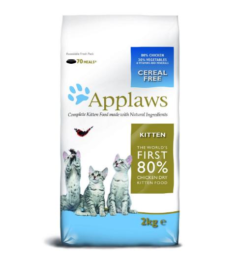 """Applaws Беззерновой для Котят """"Курица/Овощи: 80/20%"""" (Dry Cat Kitten) 2 кг, петдог"""