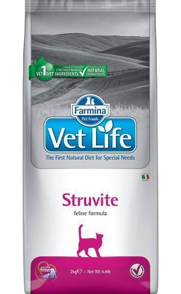 Farmina Vet Life Struvite корм для кошек при мочекаменной болезни , уп. 2 кг. петдог