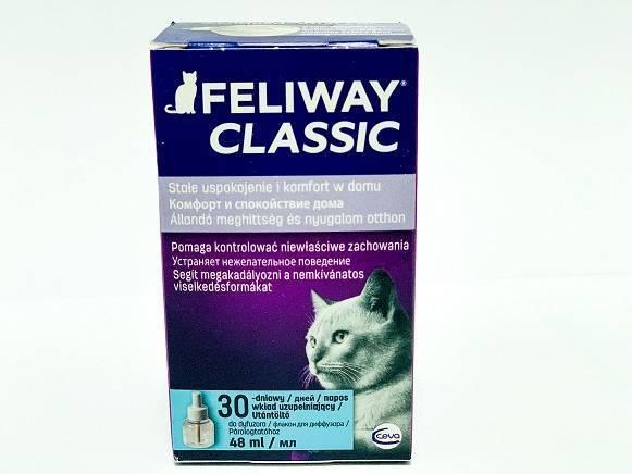 Феромон для кошек CEVA FELIWAY (Феливей классик) -  фл 48 мл, сменный контейнер петдог