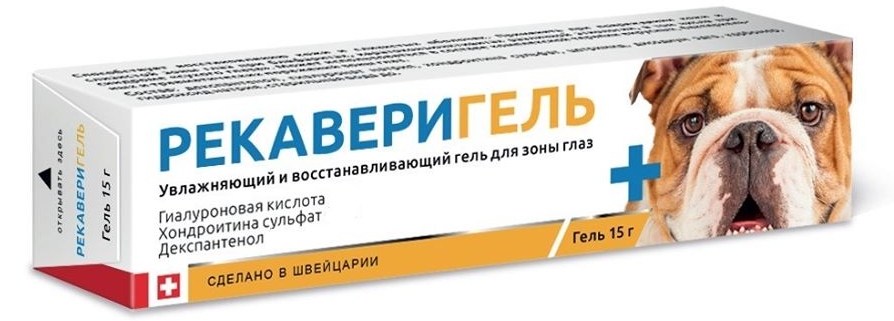 РекавериГель глазной для животных, 15 гр. петдог