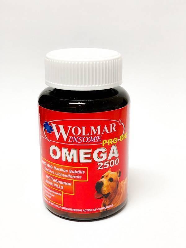 Волмар Омега 2500 для собак средних и крупных пород (Wolmar OMEGA 2500), банка 100 таб петдог