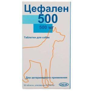 Цефален 500, 12 таблеток уп. петдог