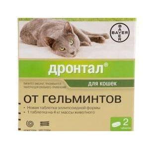 Дронтал для кошек, (2 таблетки) петдог