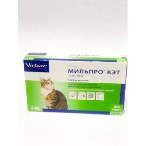 Мильпро Кэт для  кошек , уп 4 таблетки петдог