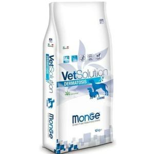 Monge Dermatosis VetSolution, диета для собак при аллергии и дерматологических заболеваниях, 12 кг петдог